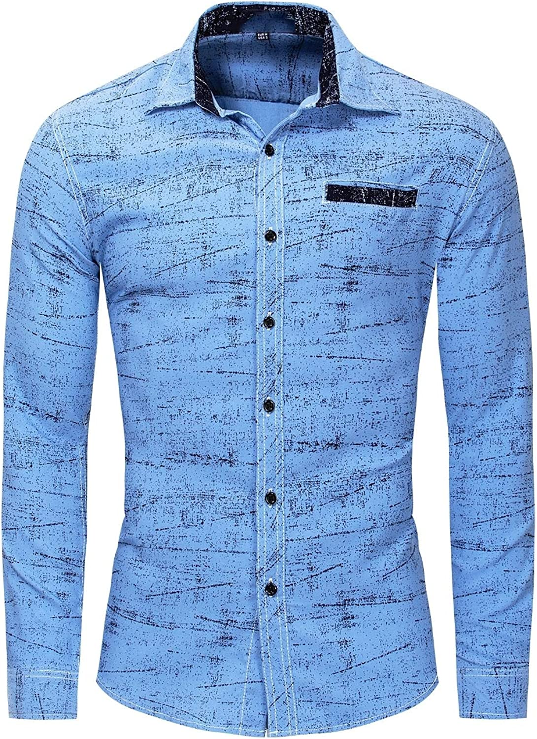 Tingwin Mens Oversize Classic Silm Stretch Button Down Dress Shirt
