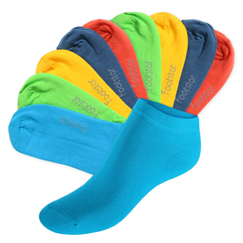 Footstar SNEAK IT! Calcetines Hombres//Mujeres 10 pares de calcetines de algod/ón