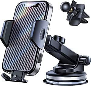 Andobil Car Phone Mount [2021 Newest Suction Cup] Fit for iPhone 12 Pro Max 11 XS X, Samsung S21/Note 20