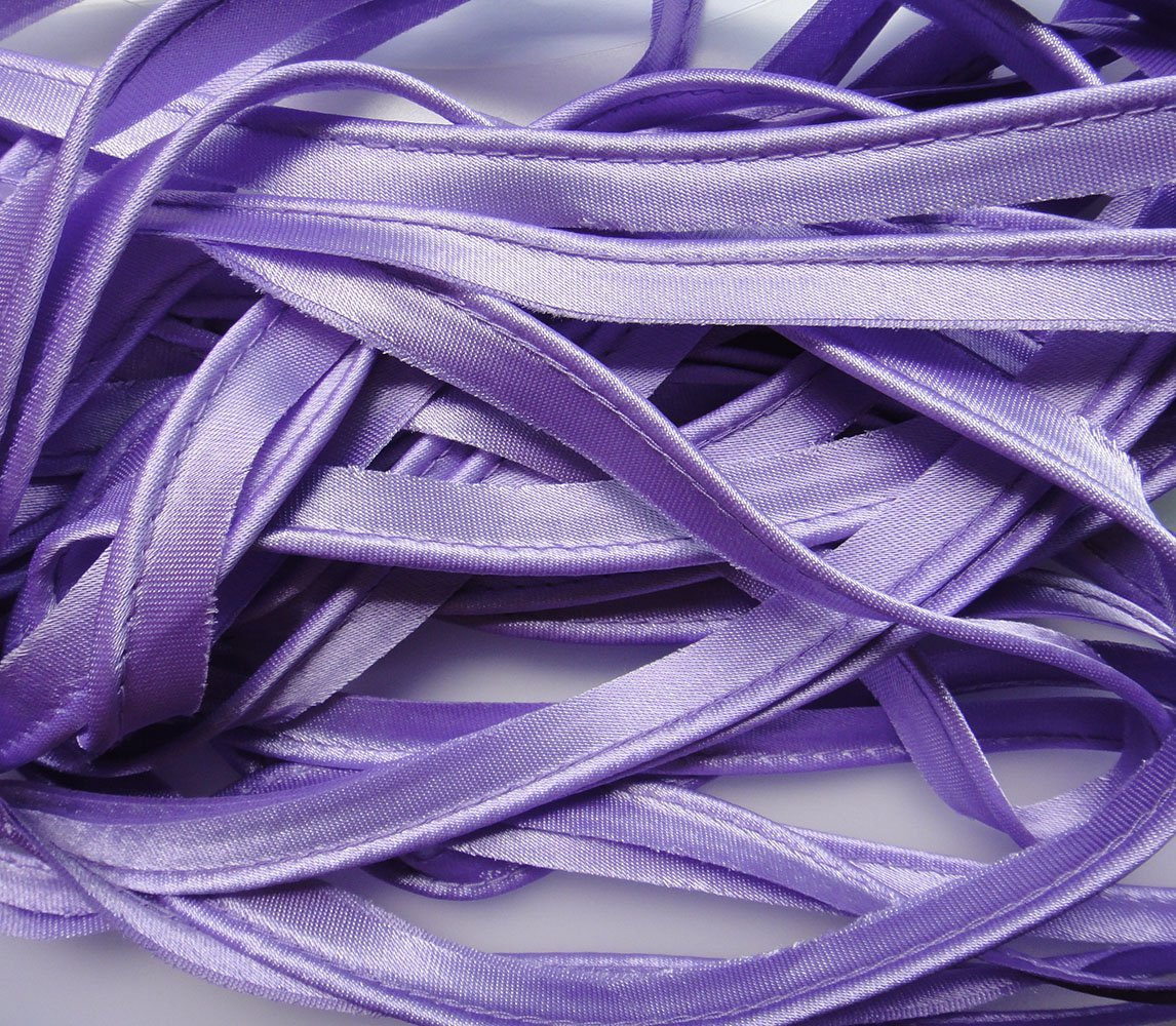 Chocolate #37 LYRACCES Satin bias tape lip cotton fabric Cord Edge Rope Ribbon upholstery Sewing piping trims 10yards