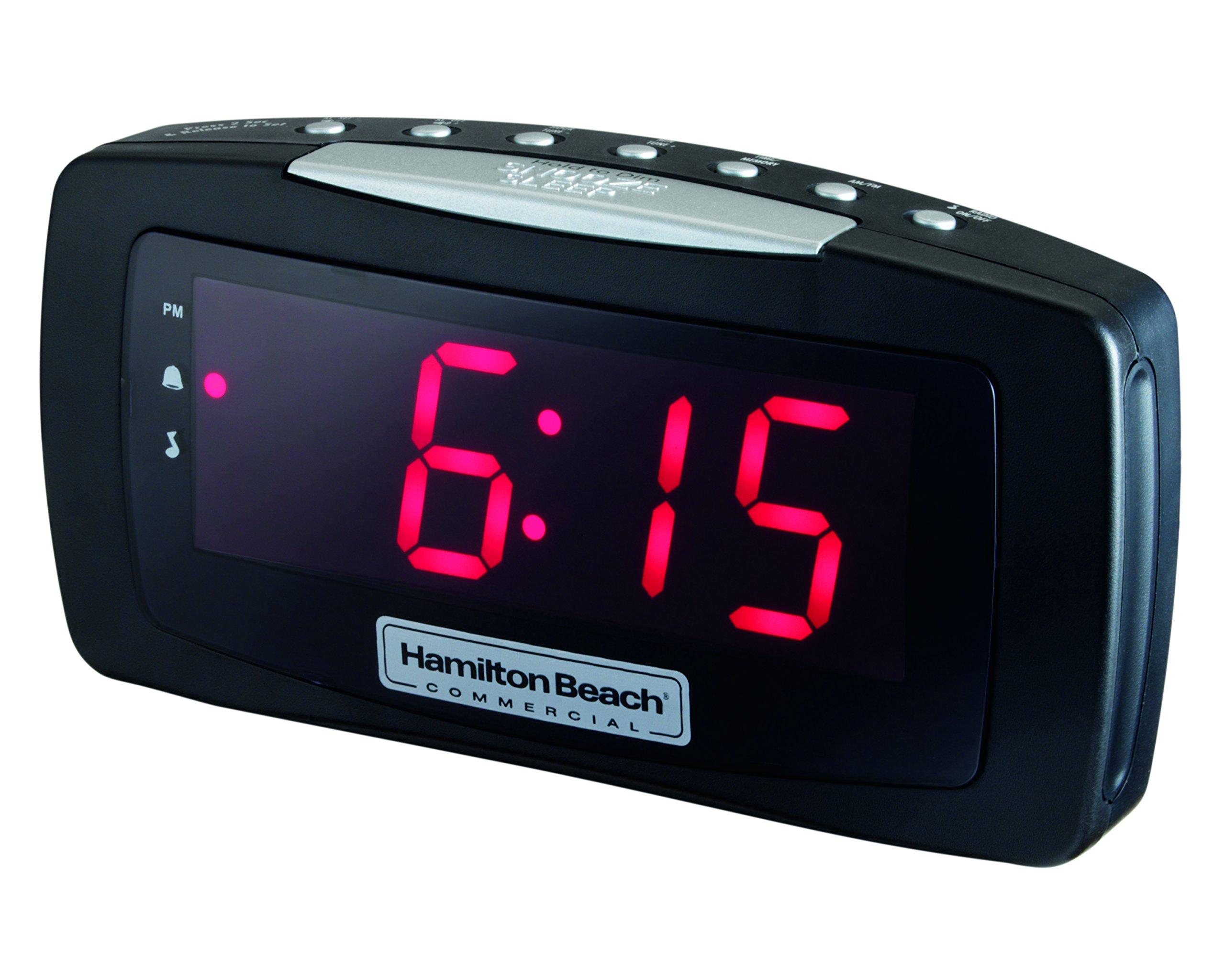 Hospitality Clock Radio Alarm Clock with Large Display and Snooze Button HCR330 by Hamilton Beach