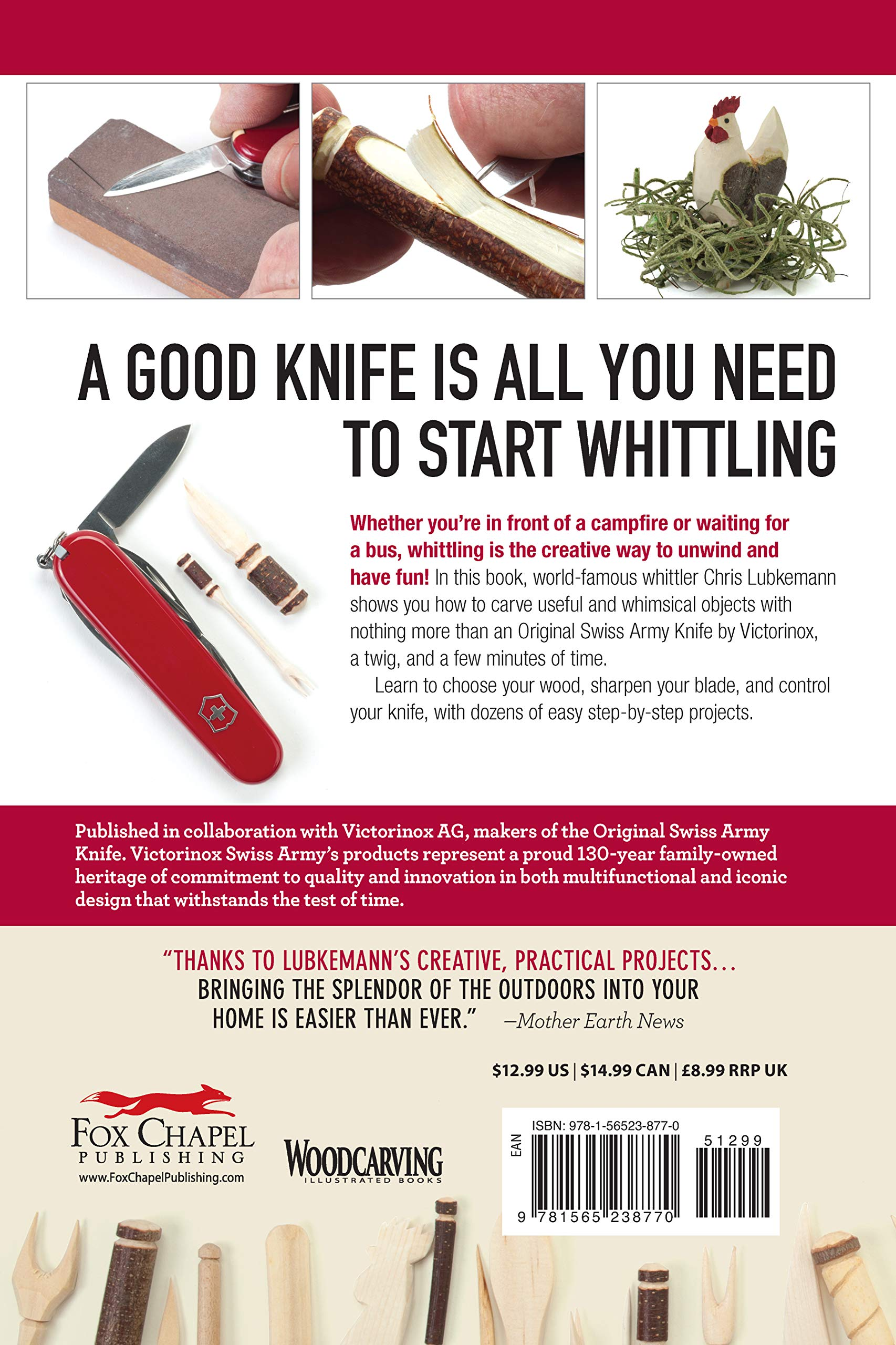 Victorinox Swiss Army Knife Whittling Book: 43 Easy Projects ...