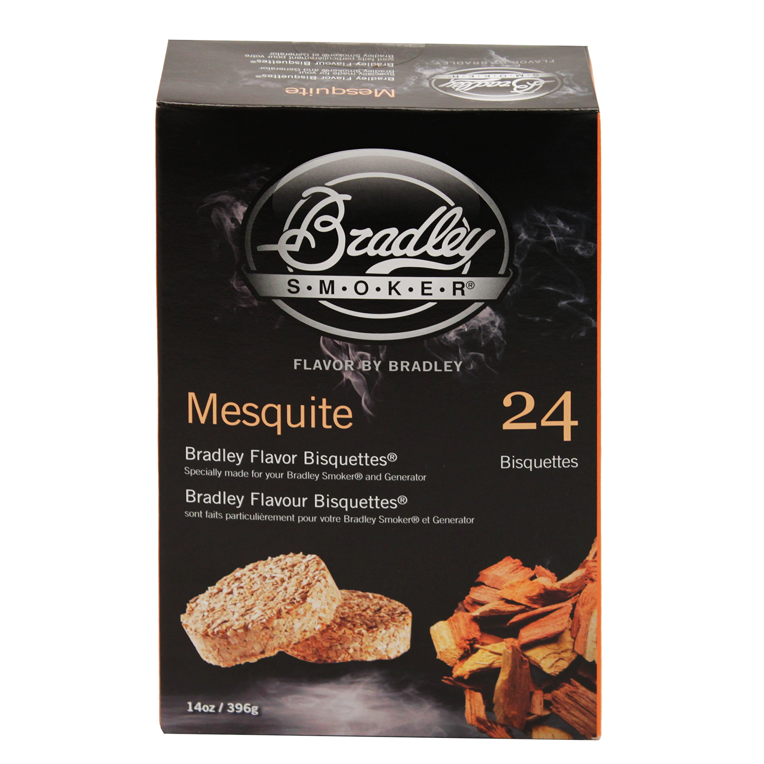 Bradley Smokers BTMQ24 Mesquite Flavored Banquettes Smokers, 24-Pack by Bradley Smoker