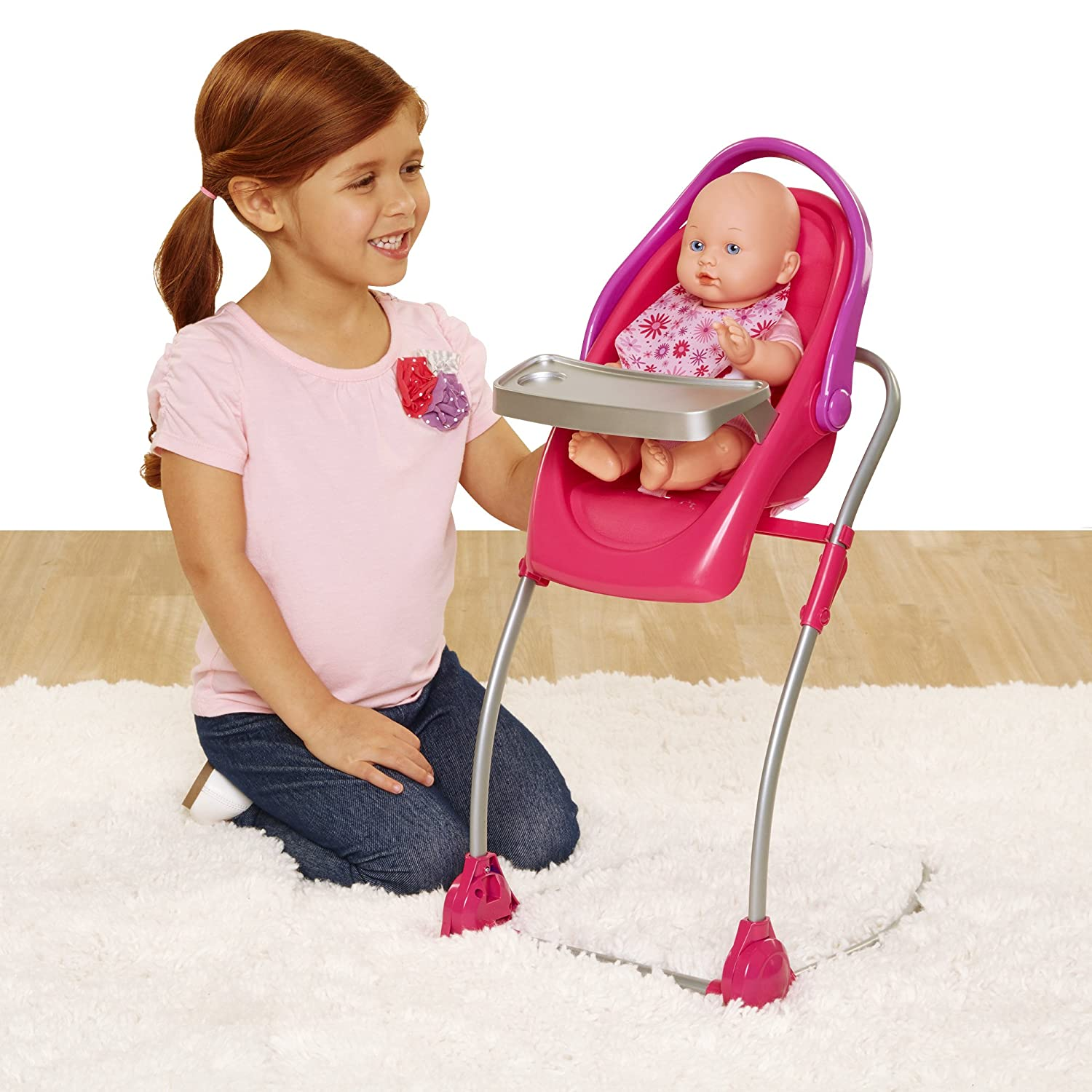 Chicco. 4-in-1 Eat & Swing Highchair for Baby Dolls, Pink Jakks 63955