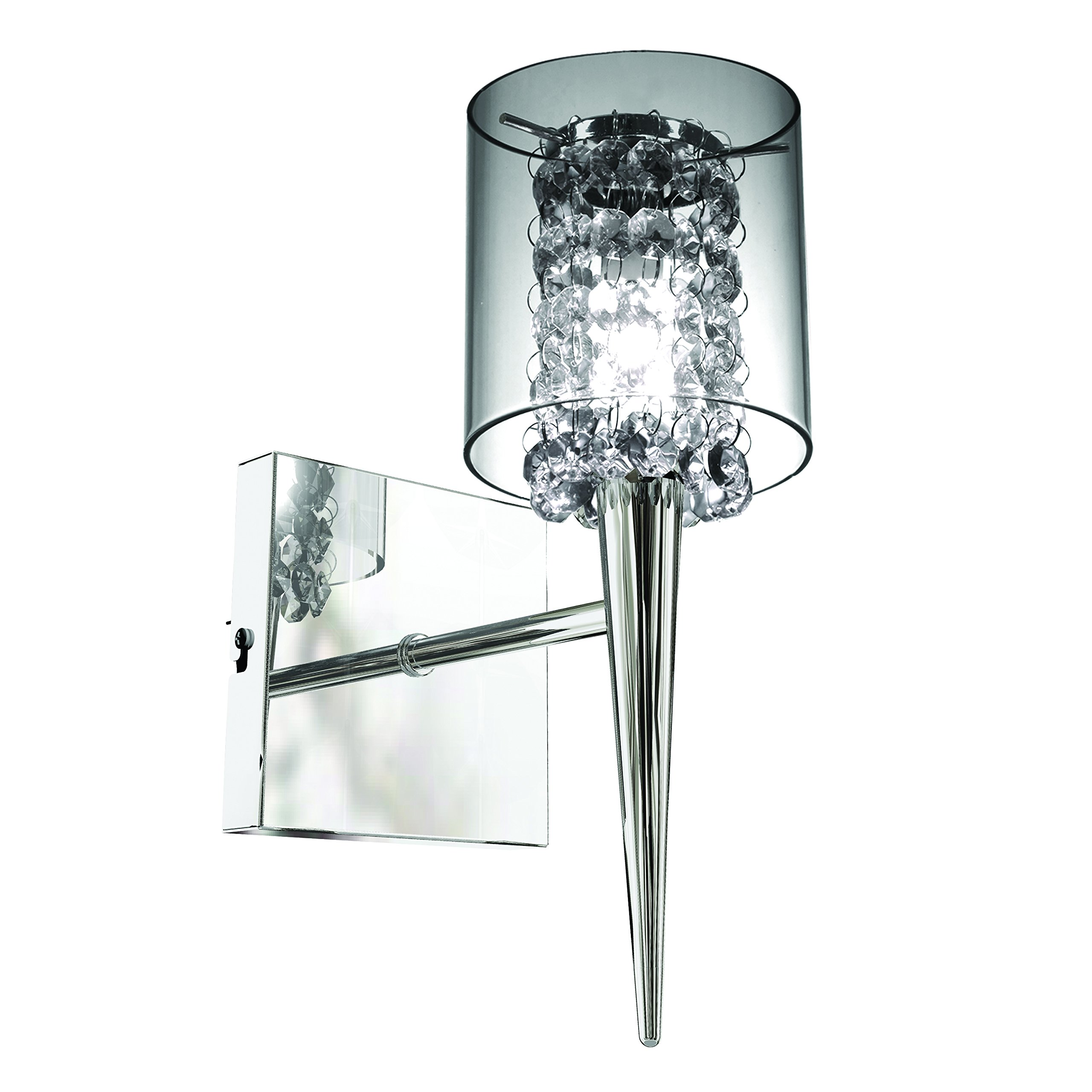 Bazz Elegant Glass Shade Single Wall Fixture, Easy Installation, Direct Wiring, Dimmable