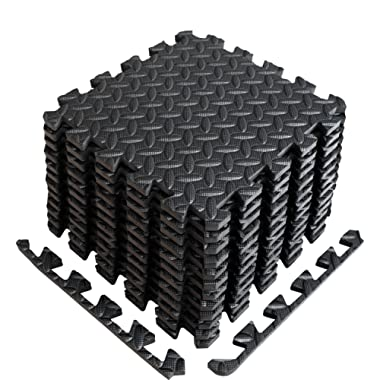 A2ZCARE Puzzle Exercise Mat with EVA Foam Interlocking Tiles (Protective Flooring) - 3 Year Limited Warranty with 60 Days Free Return - Perfect for Home Gym, Aerobic, Yoga & Pilates
