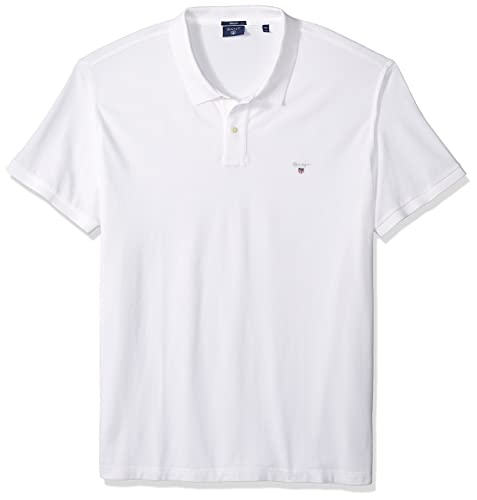 Gant Men's Solid Pique Rugger Short Sleeve Polo Shirt