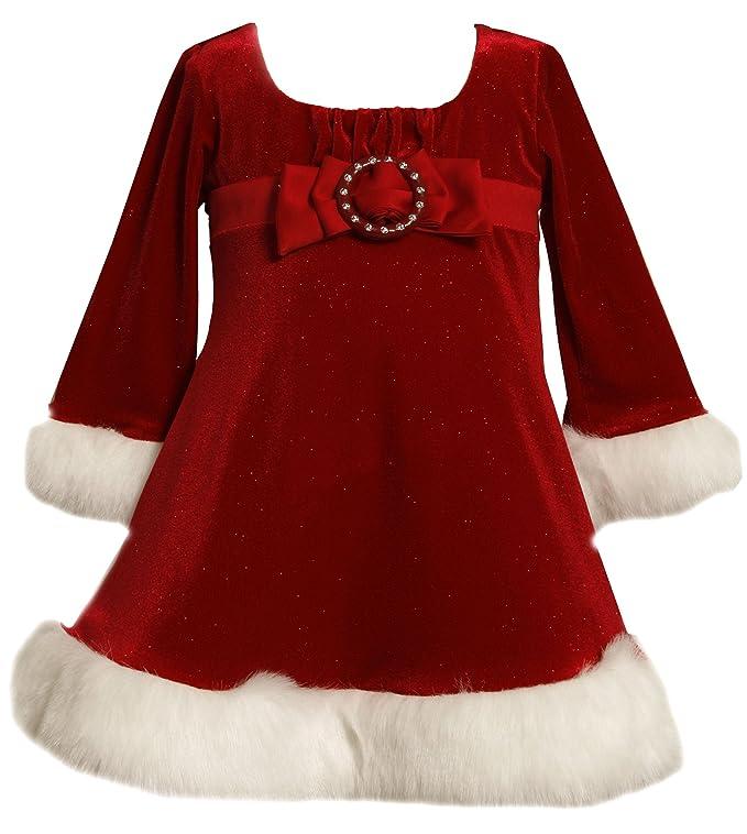 Amazon.com: Bonnie Baby Girls' Glitter Stretch Velvet Empire Waist ...
