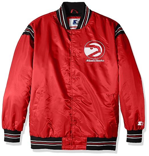 d05ed9071 Amazon.com   STARTER NBA Men s The Enforcer Retro Satin Jacket ...