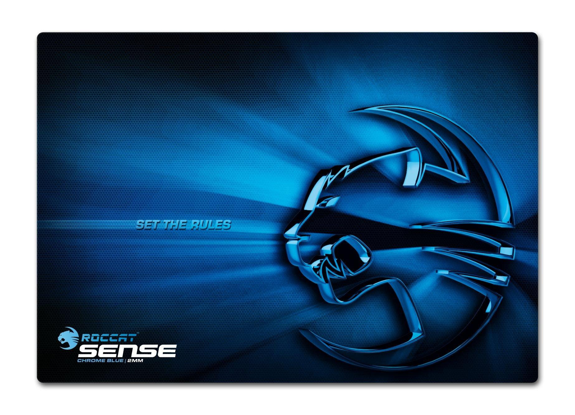 Mousepad ROCCAT Sense - Chrome Blue - High Precision Gaming