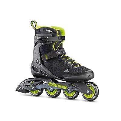 Rollerblade Zetrablade Elite Men's Adult Fitness Inline Skate, Black and Lime, Performance Inline Skates : Sports & Outdoors