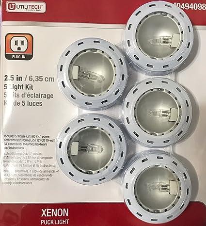 Amazon utilitech xenon 10puck lights 5 amazon utilitech xenon 10puck lights 5 assembly required diy mozeypictures Images