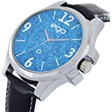 Maxima Ego Quartz Seiko Movement Analog Blue Dial Men's Watch - E-01065LAGC
