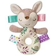 Taggies Embroidered Soft Ring Rattle, Flora Fawn, 6-Inches