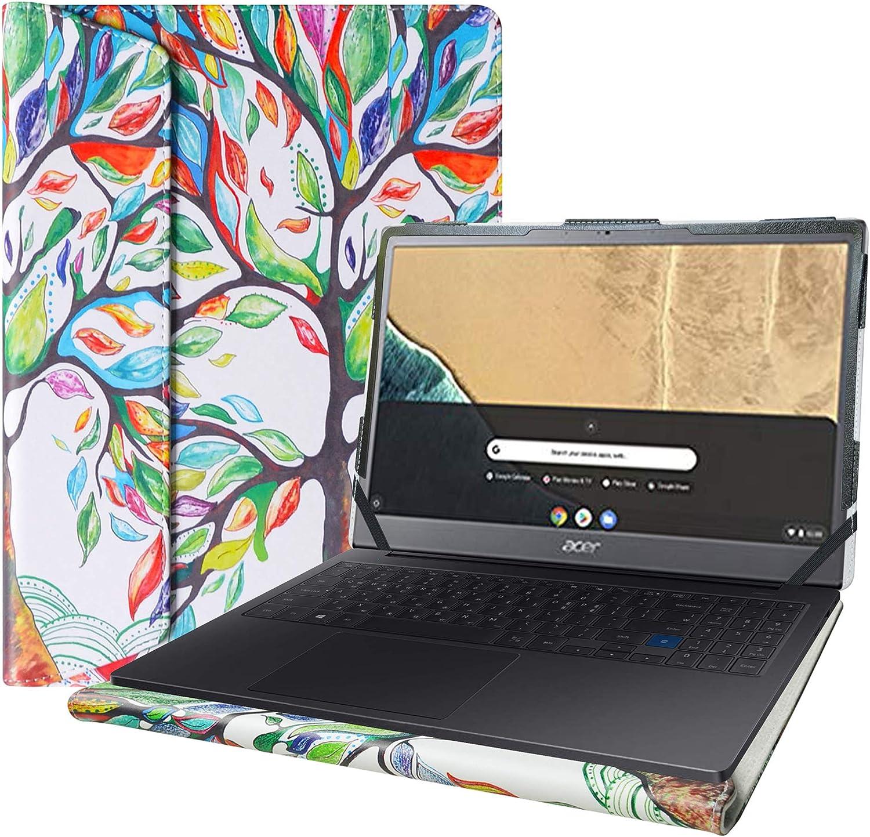 "Alapmk Acer Chromebook 715 Case,Protective Cover Case for 15.6"" Acer Chromebook 715 CB715/Acer Chromebook Enterprise 715 Laptop[Note:Not fit ACER CHROMEBOOK 15 315 CB515-1HT CB315-1HT],Love Tree"