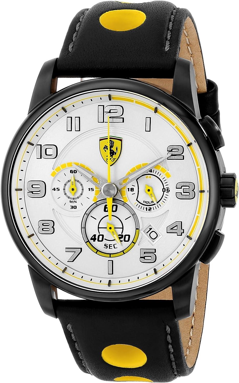 Ferrari Men s 0830056 Analog Display Japanese Quartz Black Watch