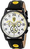 Ferrari Men's 0830056 Analog Display Japanese Quartz Black Watch