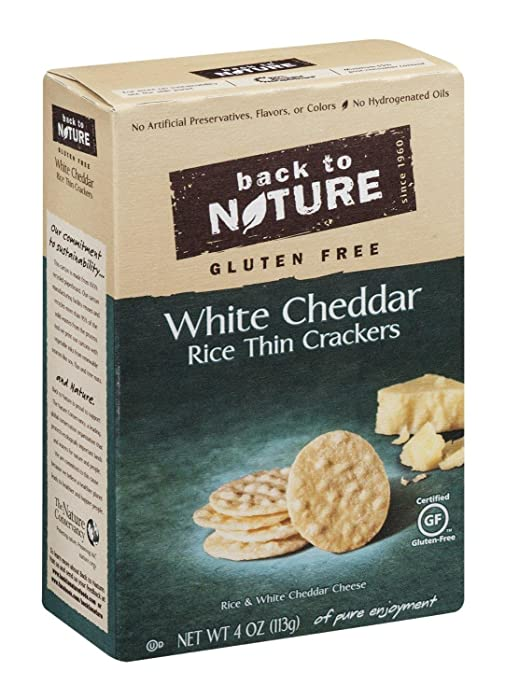 Gluten Free Rice Thins White Cheddar 4 Ounces (Case of 12)