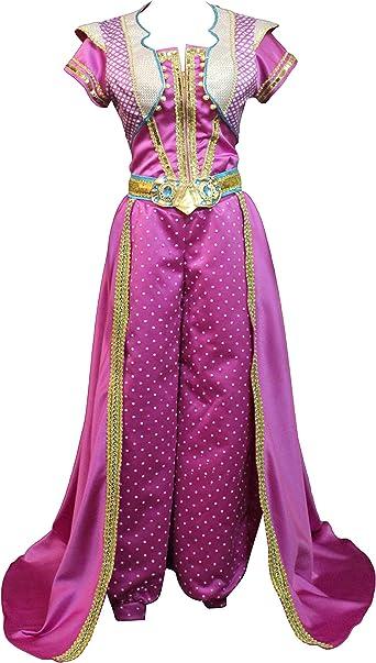 Amazon Com Women Jasmine Princess Cosplay Lamp Costume Red Dress