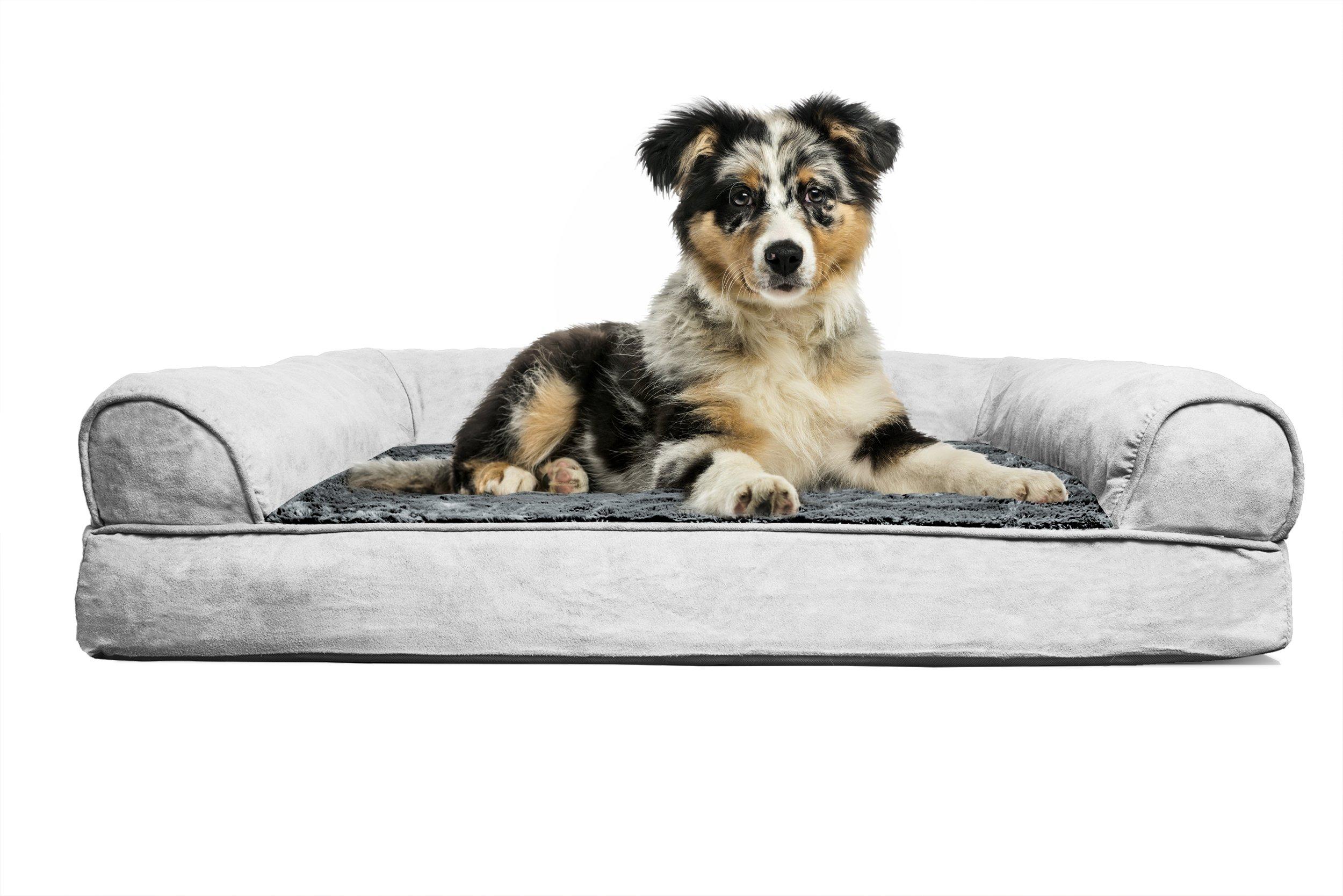 FurHaven Orthopedic Dog Sofa Bed Pet Bed Gray MEDIUM