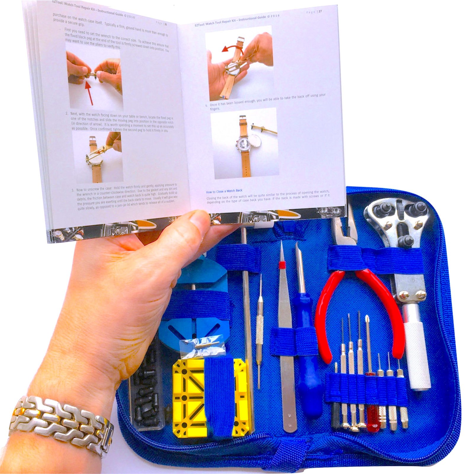 EZTool Professional Watch Repair Tool Kit: Plus 41-Page Illustrated Maintenance & Service Manual by EZTool