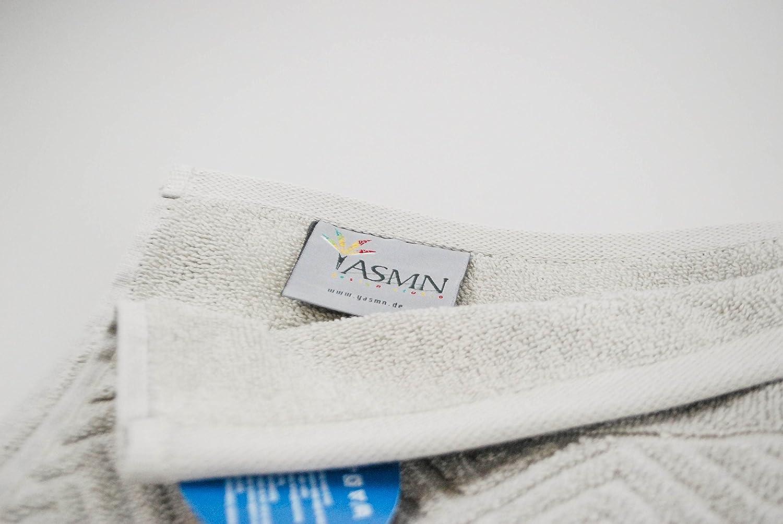 YASMN YASMN YASMN   4er Set (50x100cm) Jacquard Frottee Handtuch   Serie Zacken – Farbe  Petrol - 100% Baumwolle – 550g m² B07C2RW8PL Handtücher fe1912