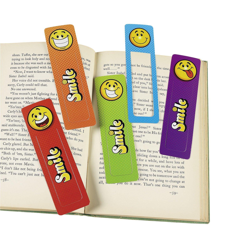 Smiley Lesezeichen mit 4 verschiedenen Motiven 24 Stück Palandi® cama24com