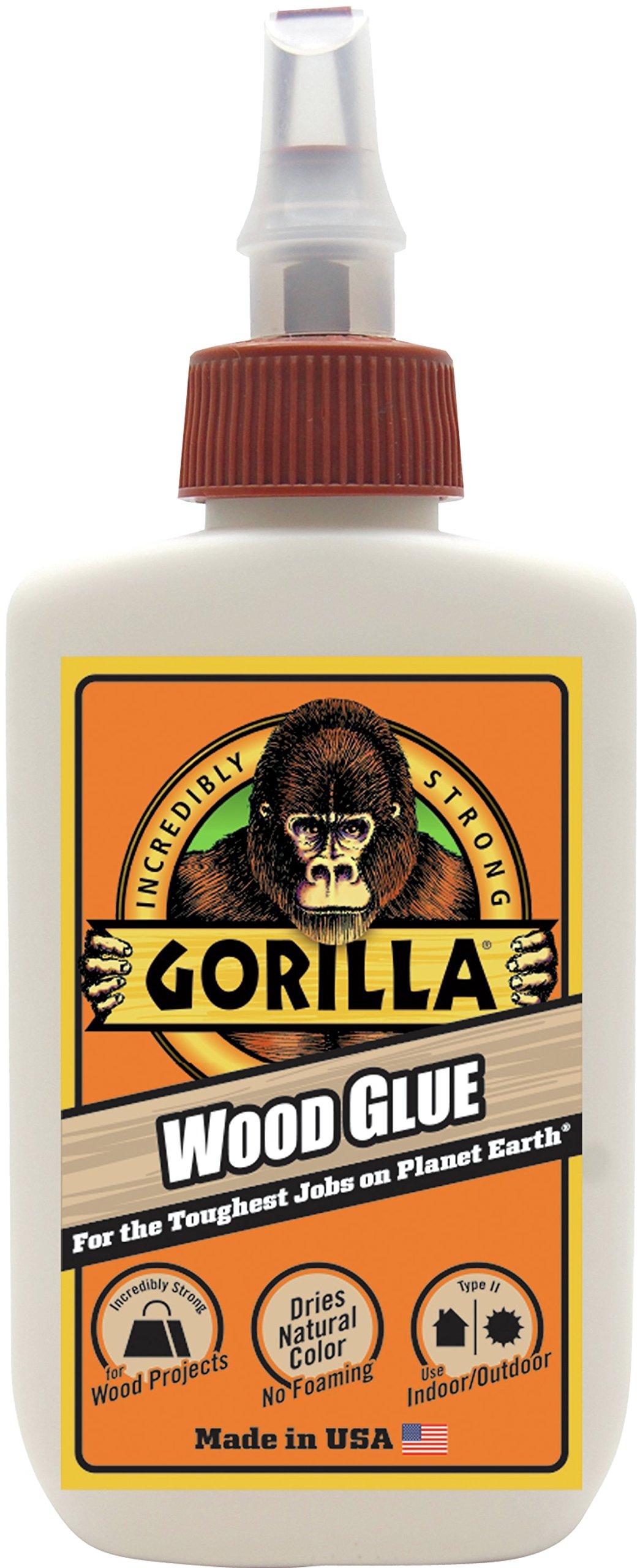 Gorilla 6202001 Wood Glue, 4 oz.