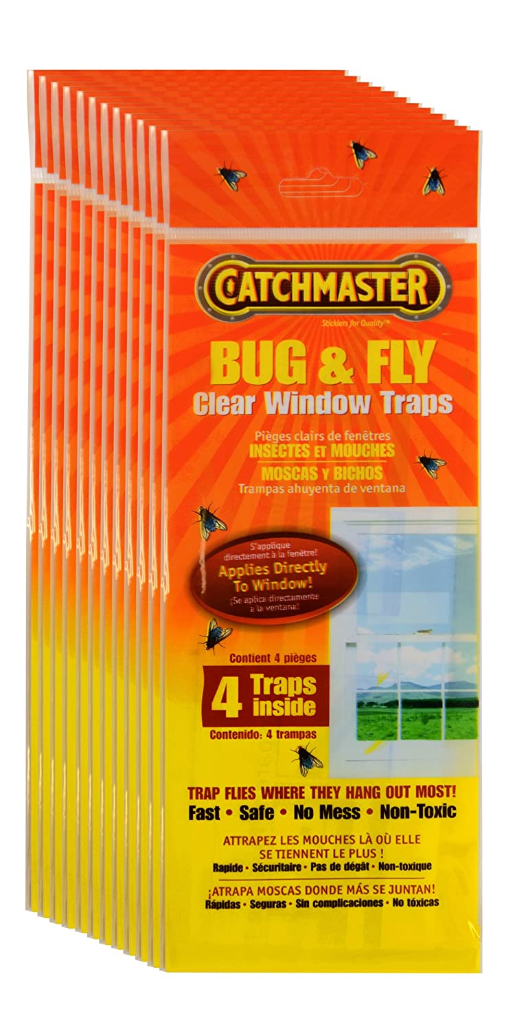Catchmaster 904 12 Clear Window Fly Trap Pack Flytrap Robots Can Hunt And Catch Bugs For Meals Home Pest Control Traps Garden Outdoor