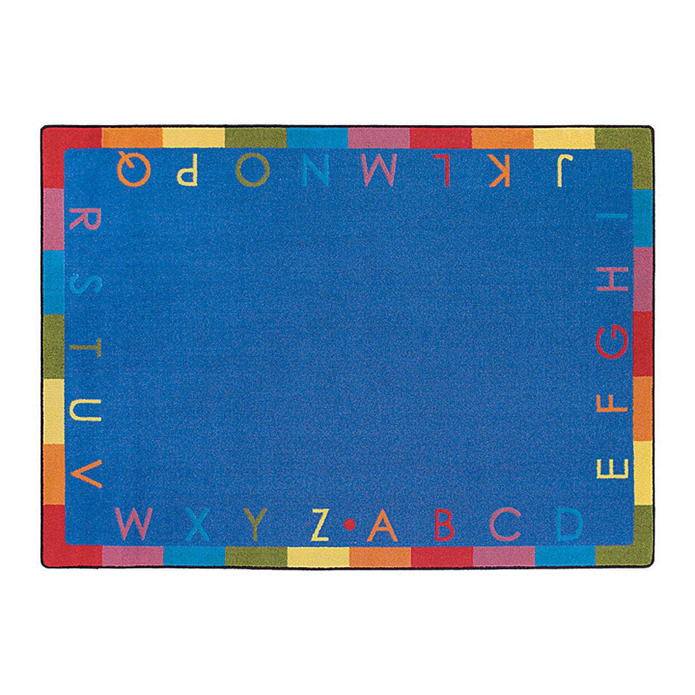 Rainbow Alphabet Classroom Rug - 5 ft. 4'' x 7 ft. 8'' Soft