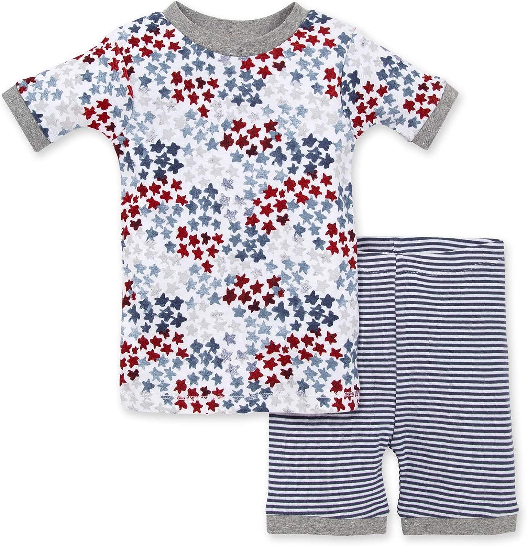 100/% Organic Cotton Tee and Pant 2-Piece PJ Set Burts Bees Baby Baby Pajamas