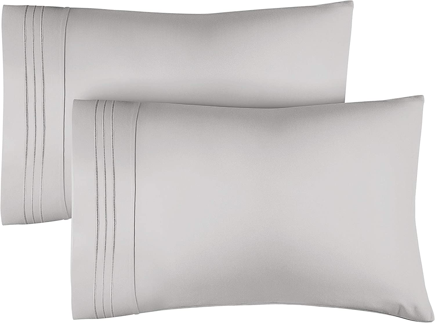 Queen Size Pillow Cases Set of 2 – Soft, Premium Quality Pillowcase Covers – Machine Washable Protectors – 20x26 & 20x30 Pillows for Sleeping 2 Piece - Queen Size Pillow Case Set