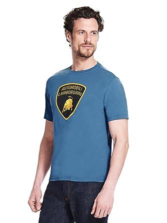 Automobili Blue Écusson Xxxl Homme Shirt T Lamborghini rXH4rZ