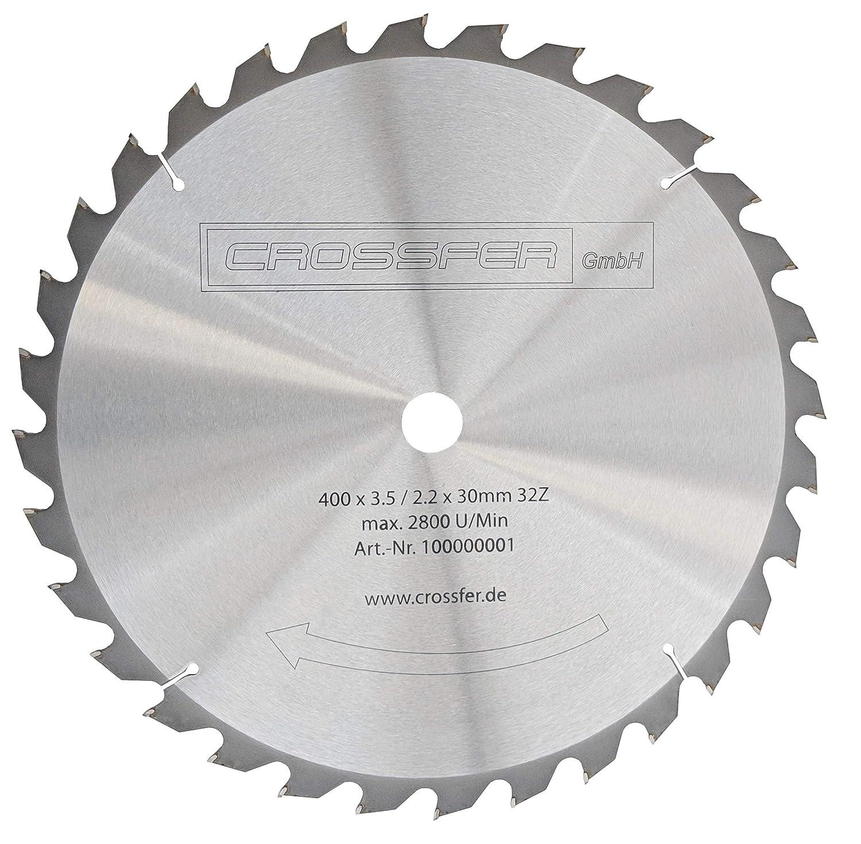 Gehrungss/ägen und Wippkreiss/ägen Hartmetall HM Kreiss/ägeblatt 400x30 Z32 f/ür Tischkreiss/ägen Handkreiss/ägen Grobschnitts/ägeblatt f/ür den L/ängs- und Querschnitt in der Holzverarbeitung und Brennholzverarbeitun