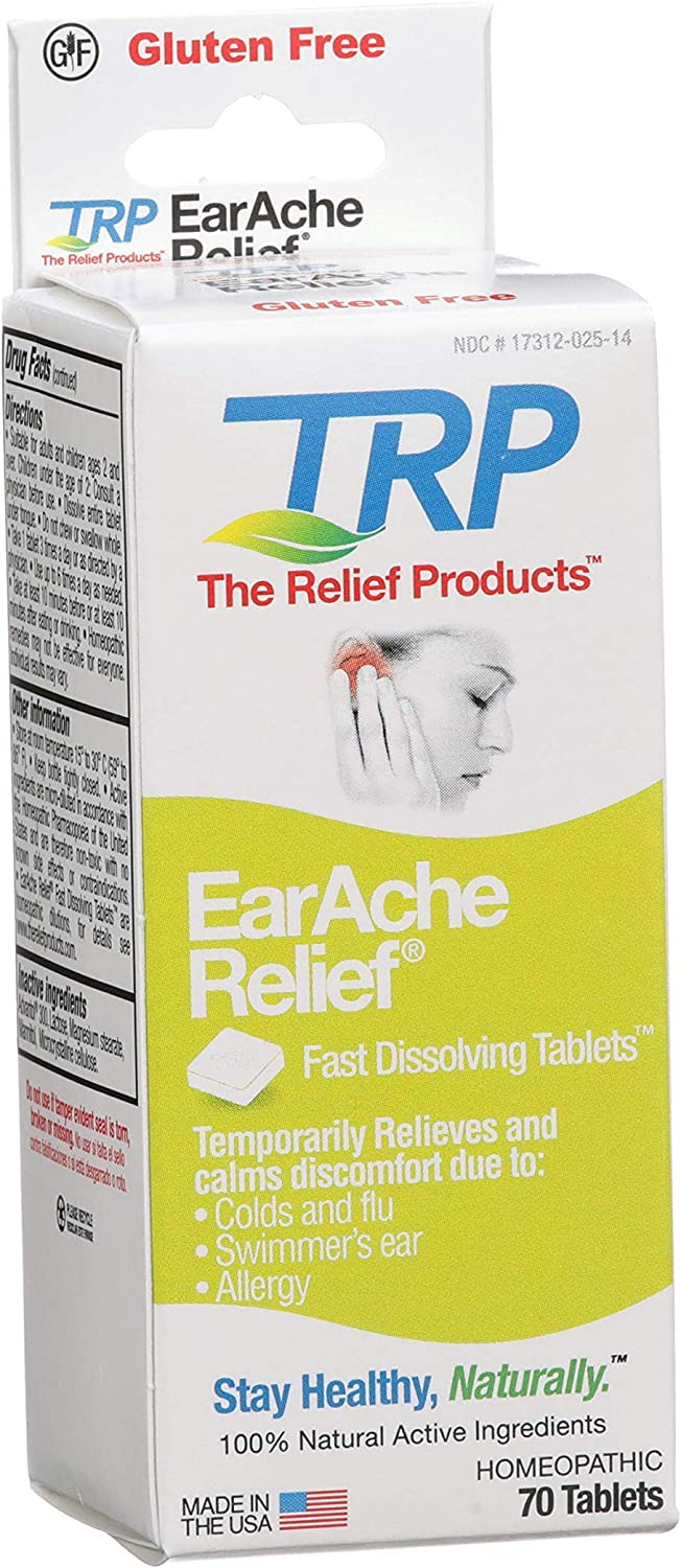 The Relief Products Earache Relief Tablets, 70 Count