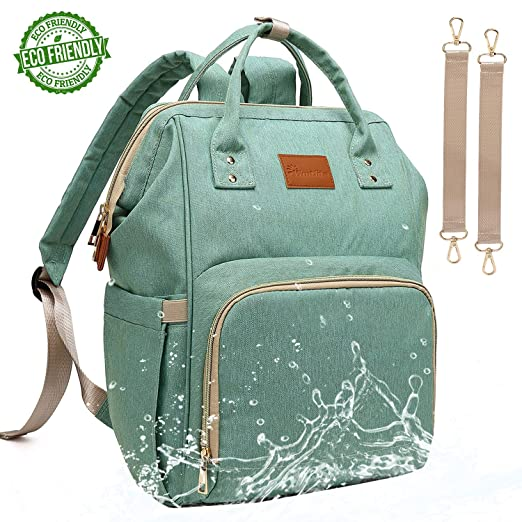 Baby Diaper Bag Backpack – Large Diaper Backpack for Mom Dad with Stroller Straps, Multi-Function, Waterproof, Stylish and Durable Travel Diaper Bags for Girls and Boys (Green)