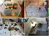 Tespo Pet Playpen, Small Animal Cage Indoor