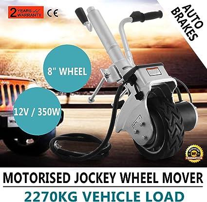 12 V//350 W Festnight Rueda Jockey Motorizada para Remolques 83x84x25 cm