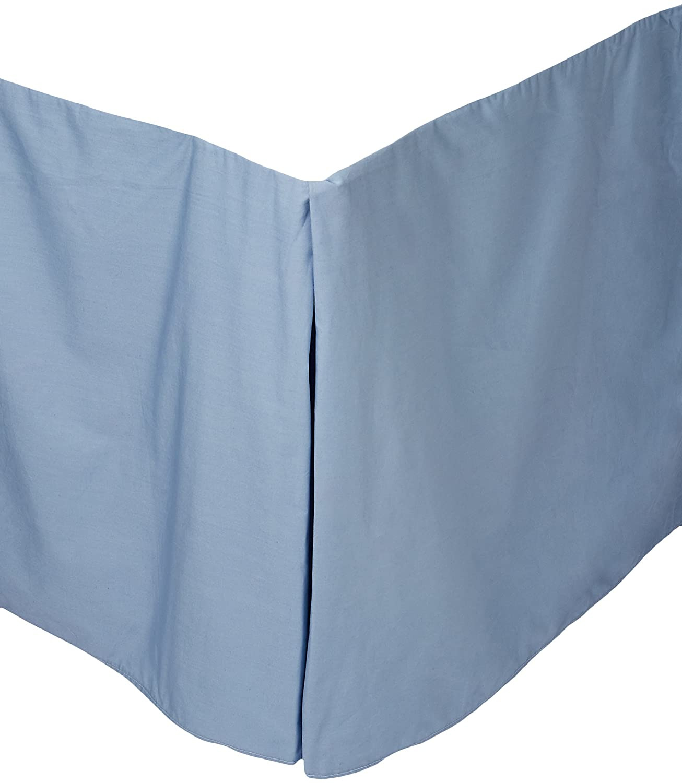 Calvin Kleinホームソリッドパーケールダブル行コードクイーンベッドスカート クイーン ブルー CL3U7C B003567MUM Calm