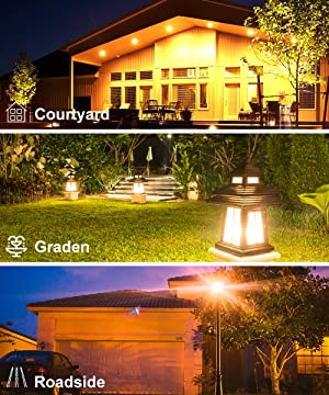 Govee Dusk to Dawn Light Bulb, 9W (70 Watt Equivalent) 800lm Light Sensor Led Bulbs, Smart Automatic On/Off, Indoor/Outdoor Lighting Bulb for Porch, Hallway, Patio, Garage 2 Packs (Warm White E26/E27) (Color: Warm White, Tamaño: 2 Pack)