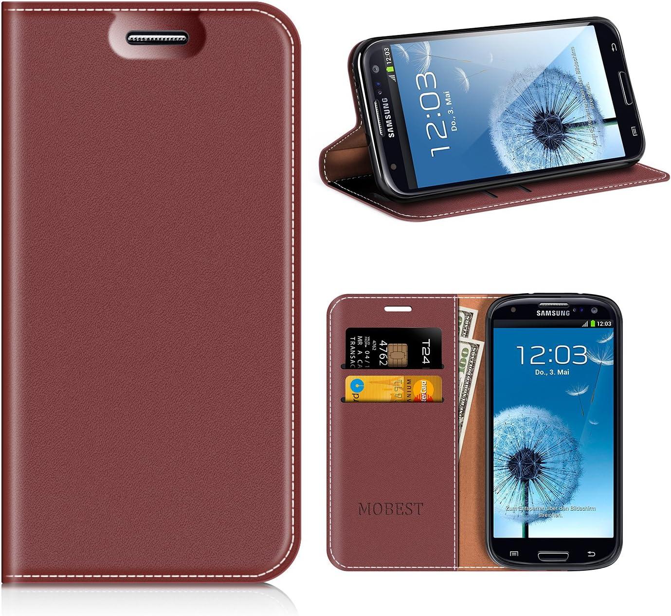 MOBESV Funda Samsung Galaxy S3, Funda Cuero, Carcasa en Libro, Ranuras para Tarjetas, Soporte para Samsung Galaxy S3 / S3 Neo: Amazon.es: Electrónica