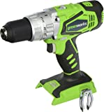 GreenWorks G-24 24V Cordless 2-Speed Hammer Drill, battery & Charger Not Included