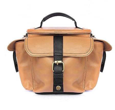 Genuine Leather Bag for Nikon D750 DSLR Camera  #MN_TAN  Camera Cases