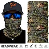 TEFITI Camo Face Bandana Sun Mask Mutifunctional Headwear Seamless Tube Headbands for Men & Women Hiking Biking Running Fishing Hunting