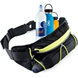 Peak Gear Fitness Fanny Pack With Bottle Holder - Lightweight Jogging, Walking, Hiking bag and Phone Pouch - No Bounce with L