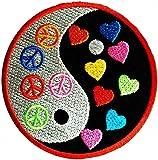 Yin Yang Símbolo de paz de Patch '7.5 x 7.5 cm- Parche Parches Termoadhesivos Parche Bordado Parches Bordados Parches Para La Ropa Parches La Ropa Termoadhesivo Apliques Iron on Patch Iron-On Apliques