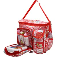 Indi Bargain Tollyjoy Multi Compartment Diaper Bag (Red)