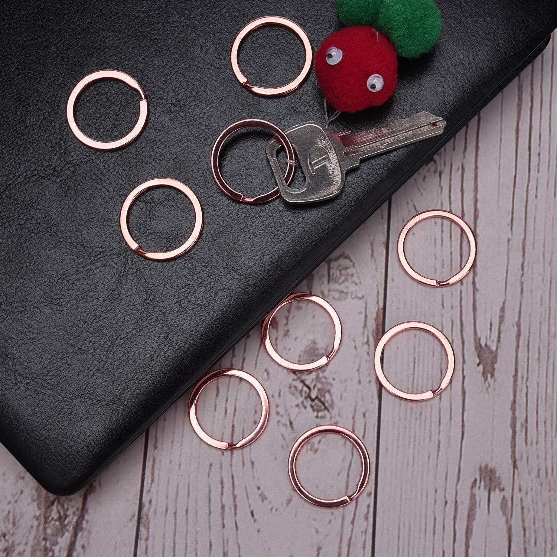 Jewelry Making Bronze Sunmns 24 Pack Flat Key Rings Metal Split Ring for Home Car Keys Organizations 1 Inch