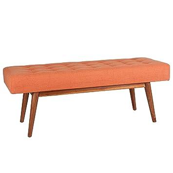 Wondrous Porthos Home Etheline Side Bench Orange Inzonedesignstudio Interior Chair Design Inzonedesignstudiocom