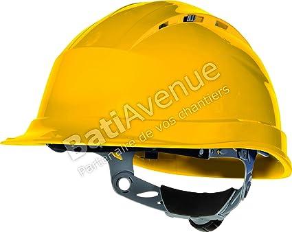 Venitex Quartz IV - Casco de seguridad con ranuras de ventilación, color amarillo